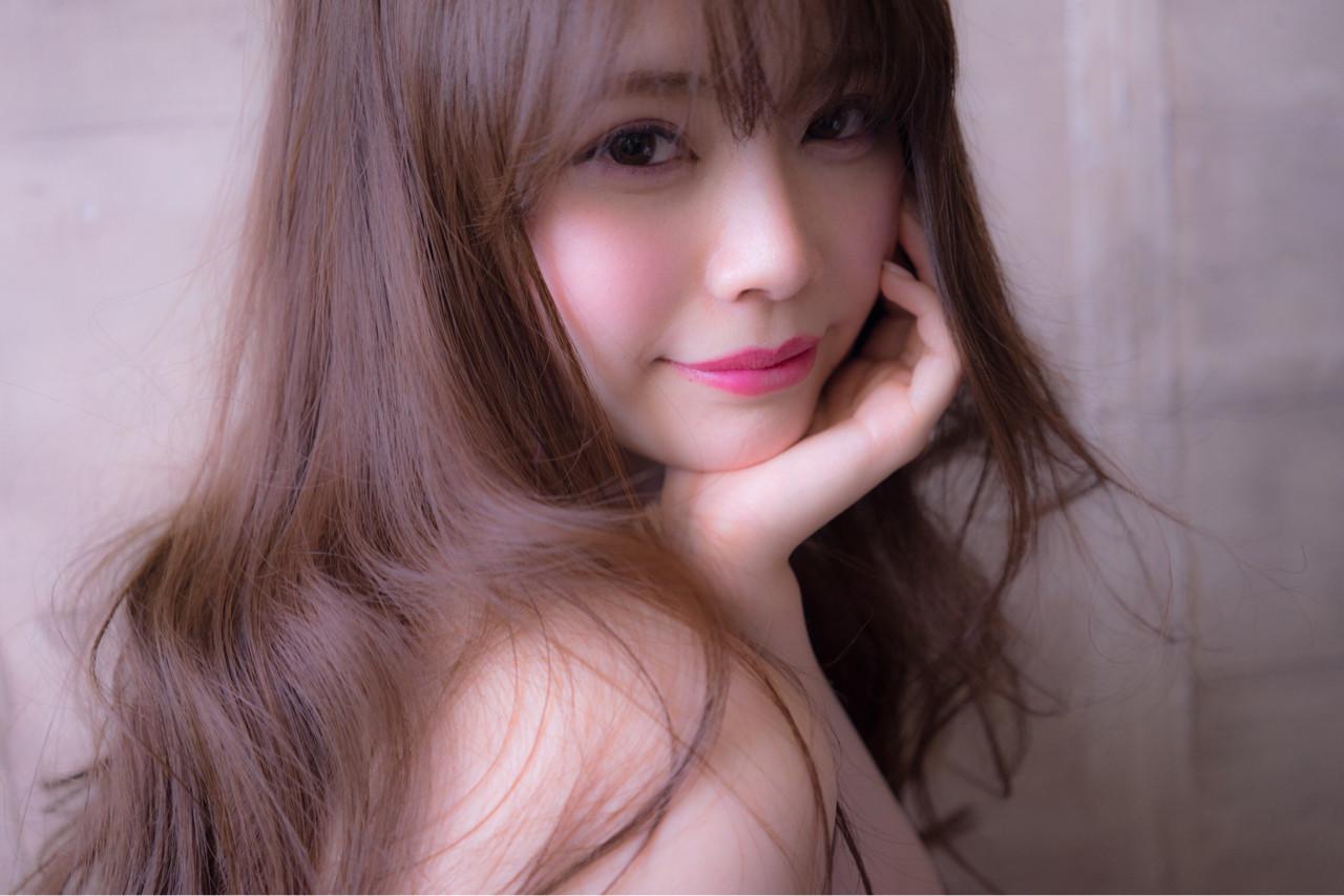 アンニュイ フェミニン かわいい ロング ヘアスタイルや髪型の写真・画像