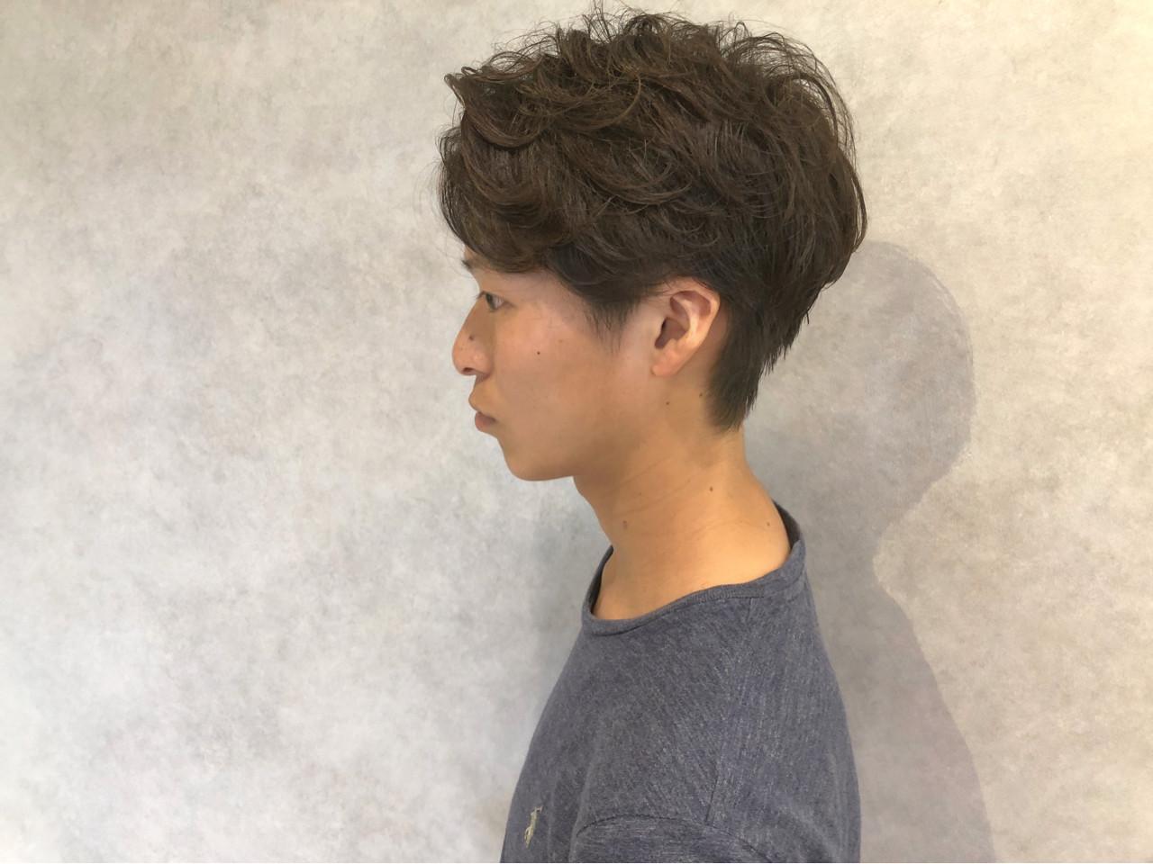 マッシュ ショート モテ髪 パーマ ヘアスタイルや髪型の写真・画像