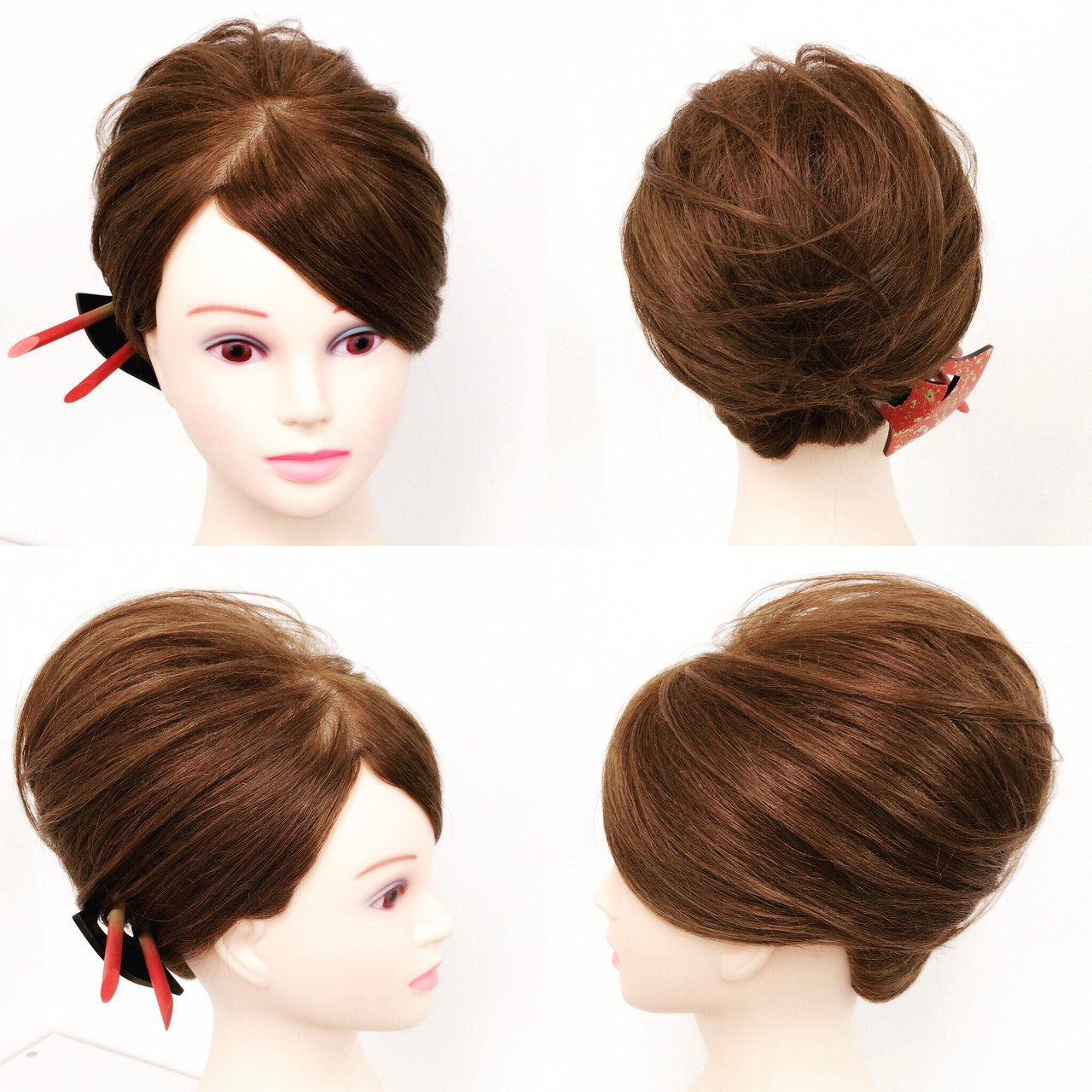 ヘアアレンジ 上品 エレガント セミロング ヘアスタイルや髪型の写真・画像
