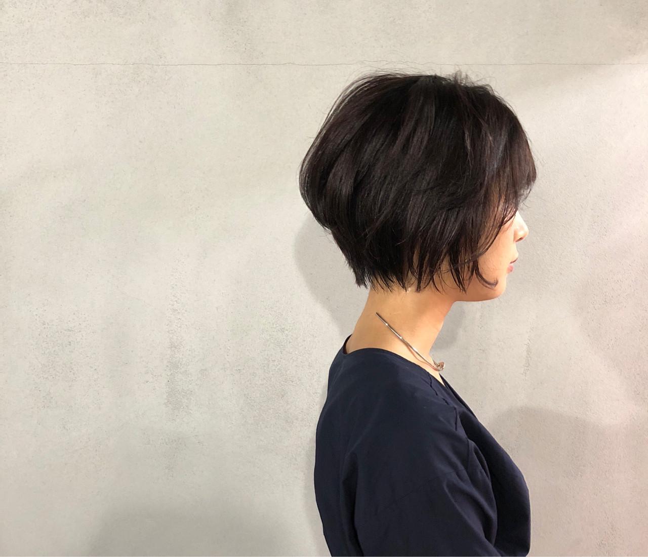 ショート 似合わせ ナチュラル 小顔 ヘアスタイルや髪型の写真・画像   葛西 祐介【N/92co.】 / N/92co.