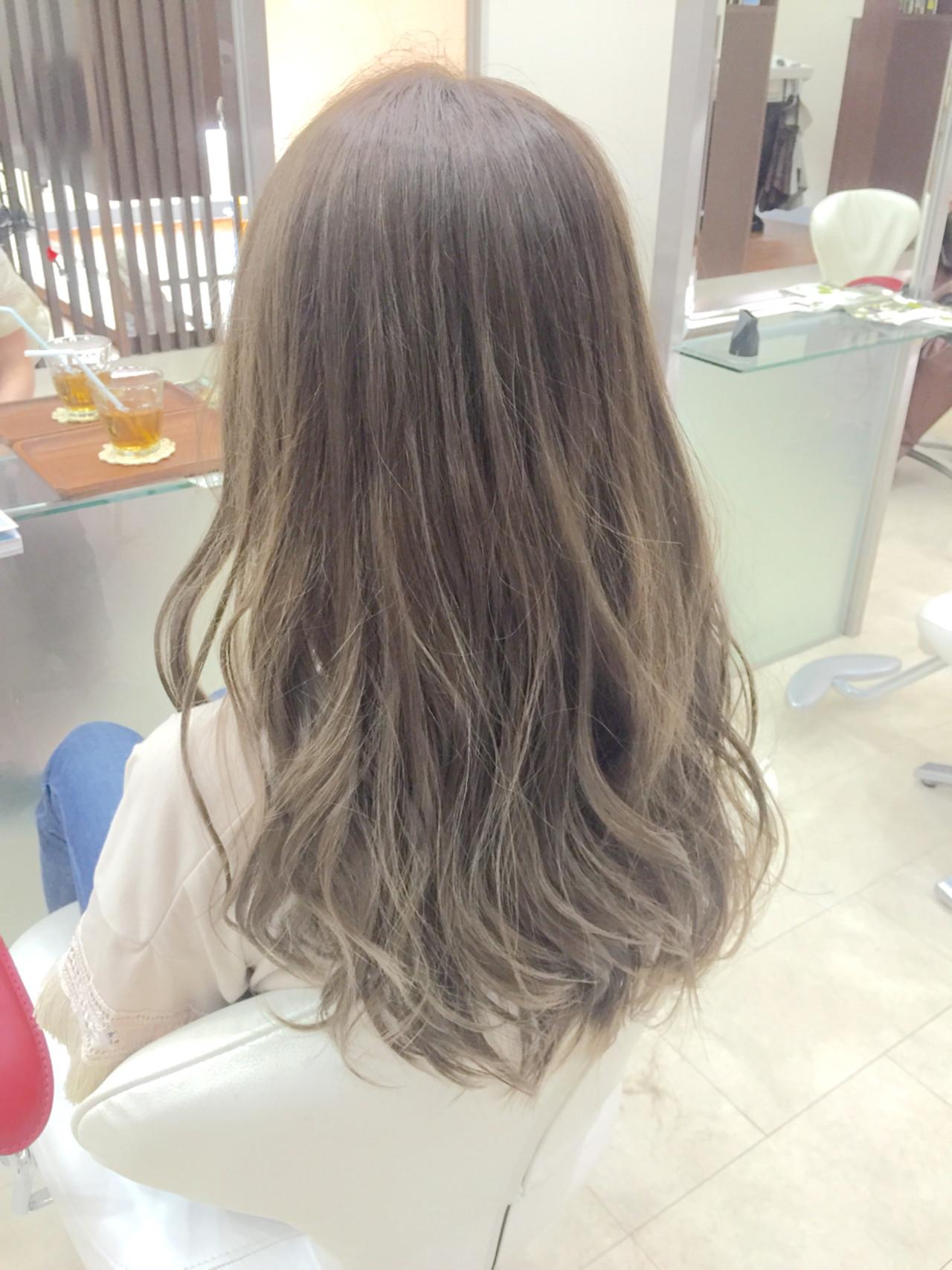 アッシュ 渋谷系 ナチュラル ロング ヘアスタイルや髪型の写真・画像