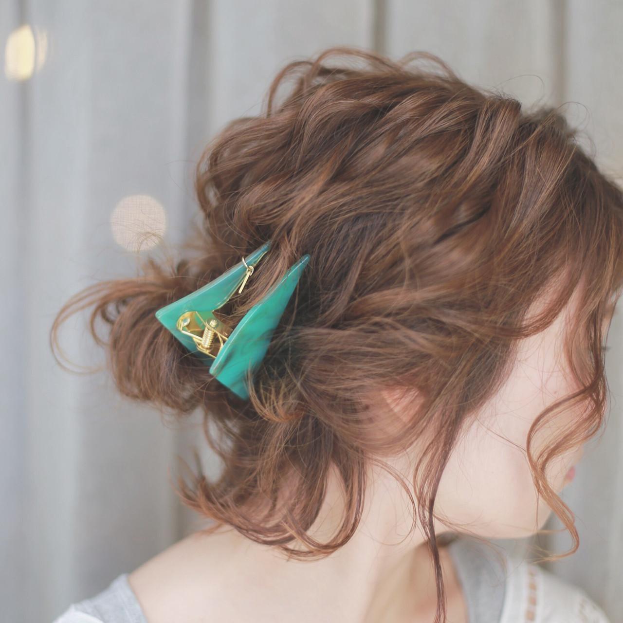 ヘアアレンジ 簡単ヘアアレンジ ショート アッシュ ヘアスタイルや髪型の写真・画像