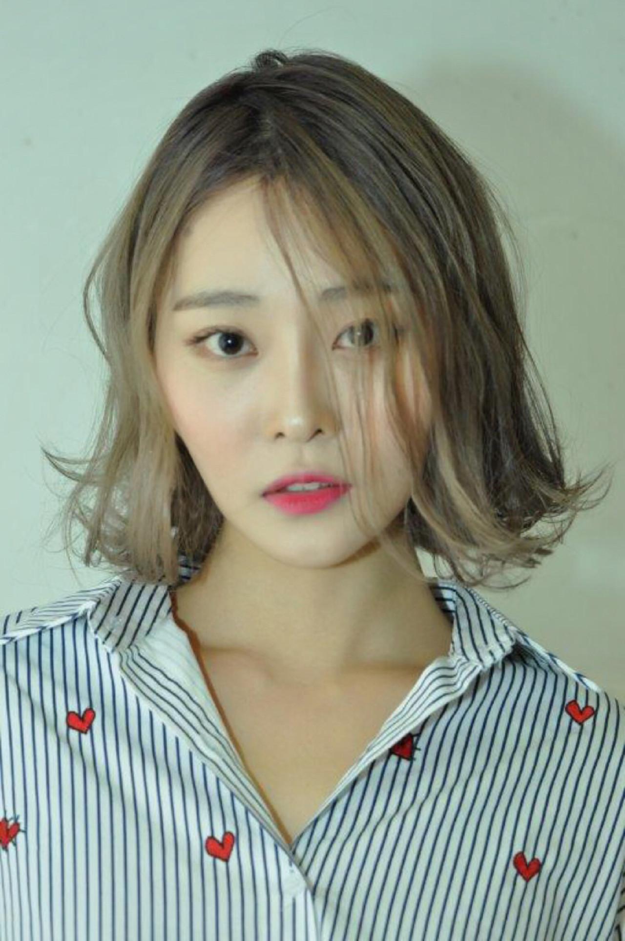 ミディアム アッシュ 外国人風カラー 外国人風 ヘアスタイルや髪型の写真・画像   会沢 学 / stance