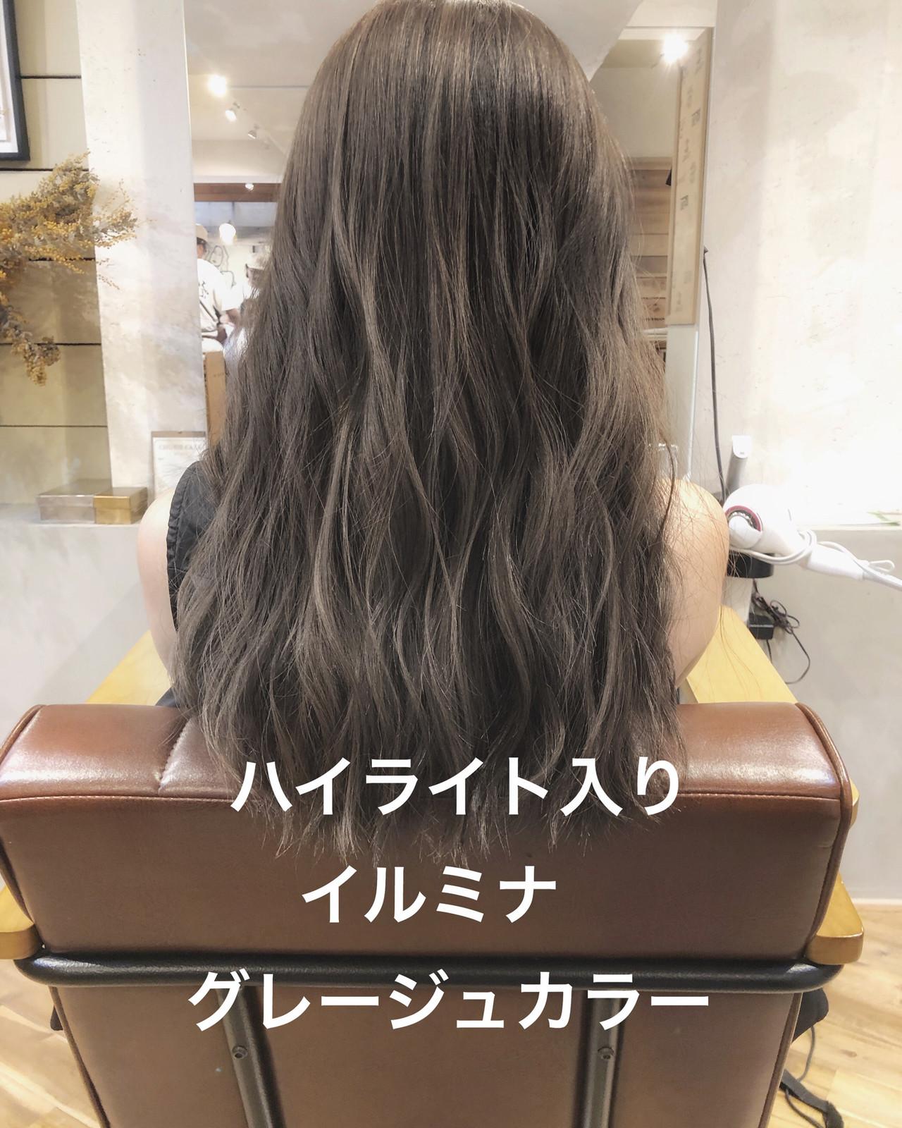 ラベンダーアッシュ ナチュラル アッシュグレージュ グレージュ ヘアスタイルや髪型の写真・画像