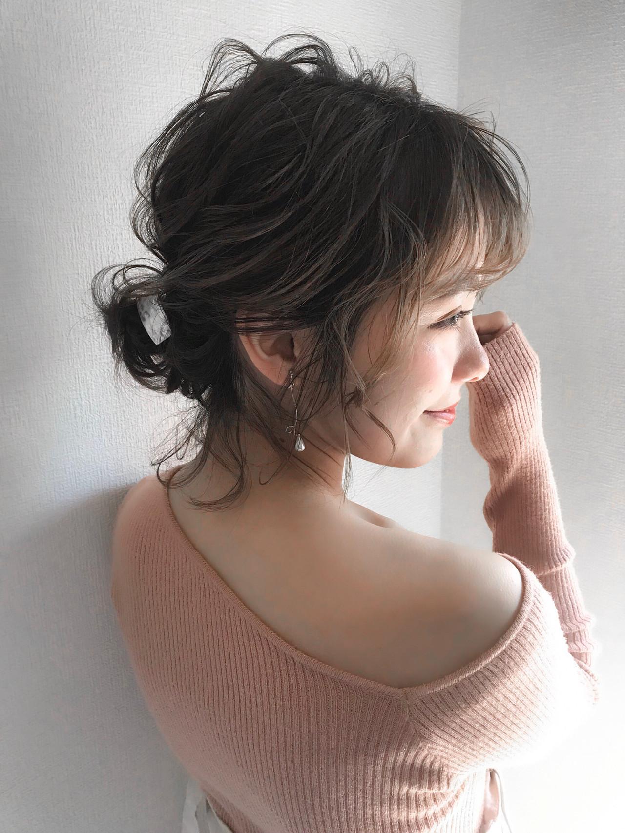 デート ナチュラル ヘアアレンジ 結婚式 ヘアスタイルや髪型の写真・画像 | 三木 奨太 / hair set salon  IRIS