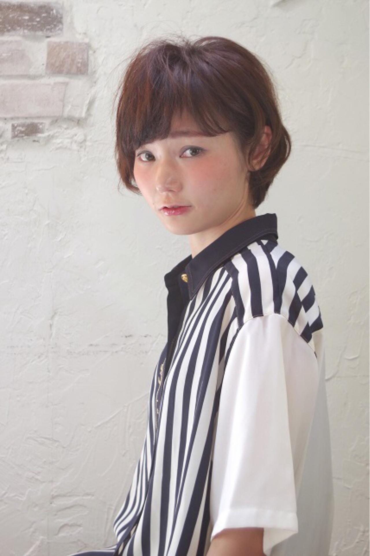 ショート ピュア アッシュ ガーリー ヘアスタイルや髪型の写真・画像 | Nao Kokubun blast / blast