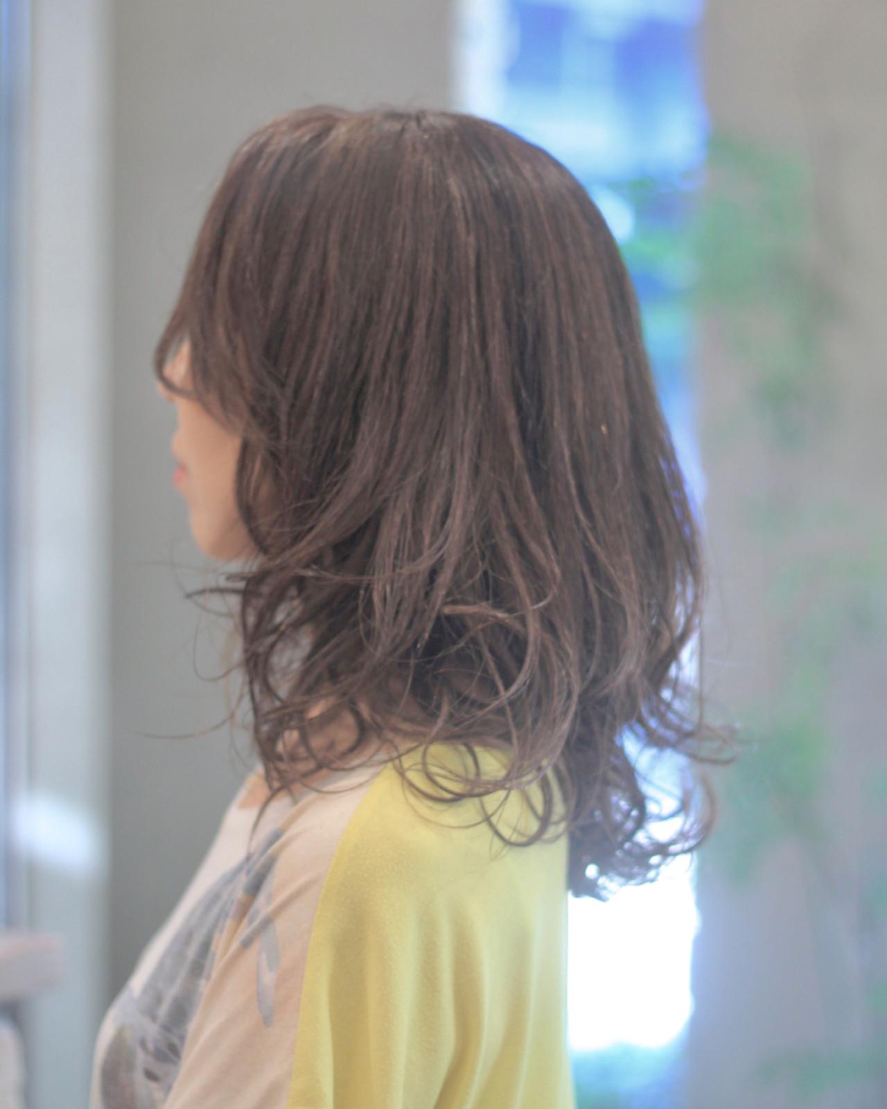 夏 外ハネ ミディアム 大人女子 ヘアスタイルや髪型の写真・画像