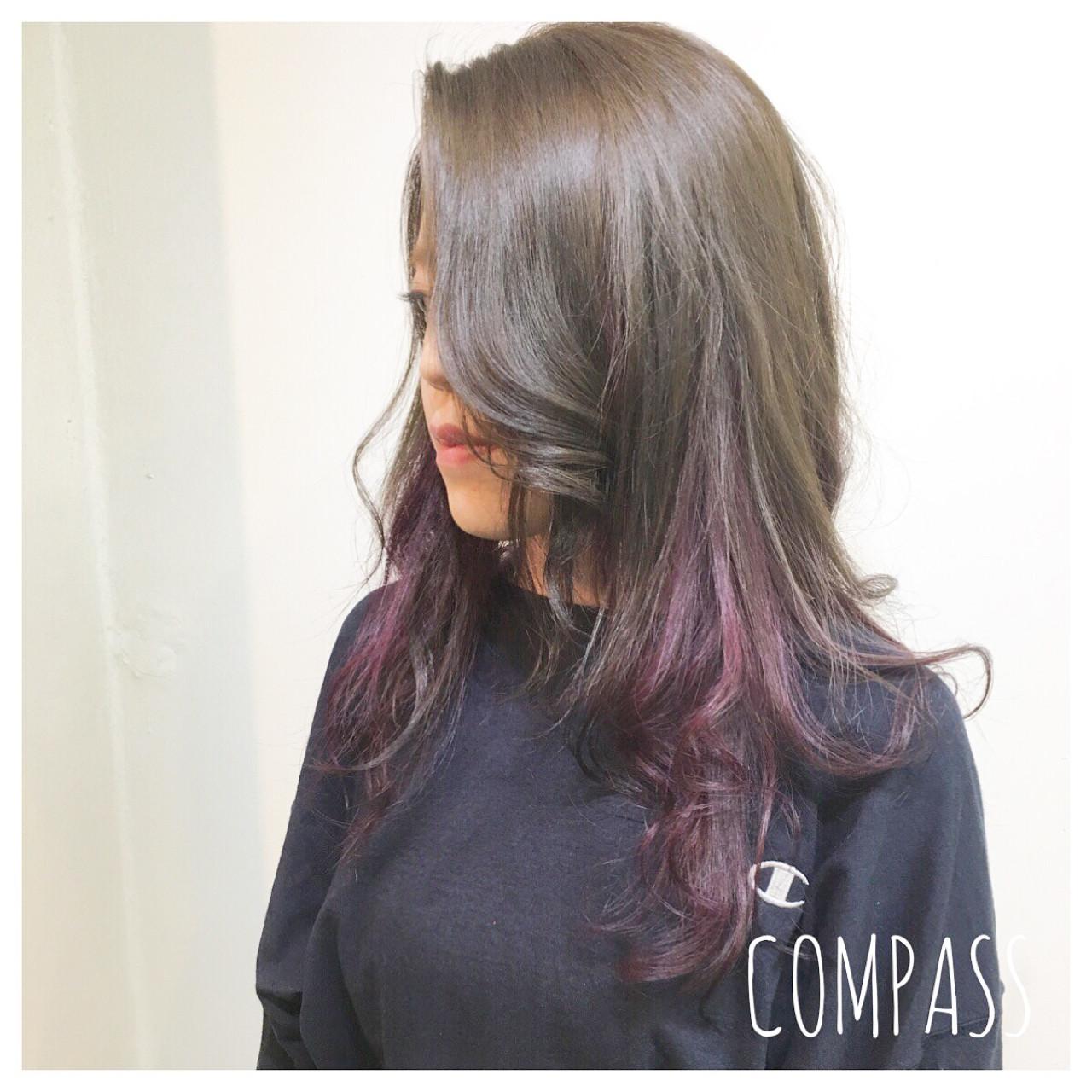 ミディアム ピンク ナチュラル グラデーションカラー ヘアスタイルや髪型の写真・画像