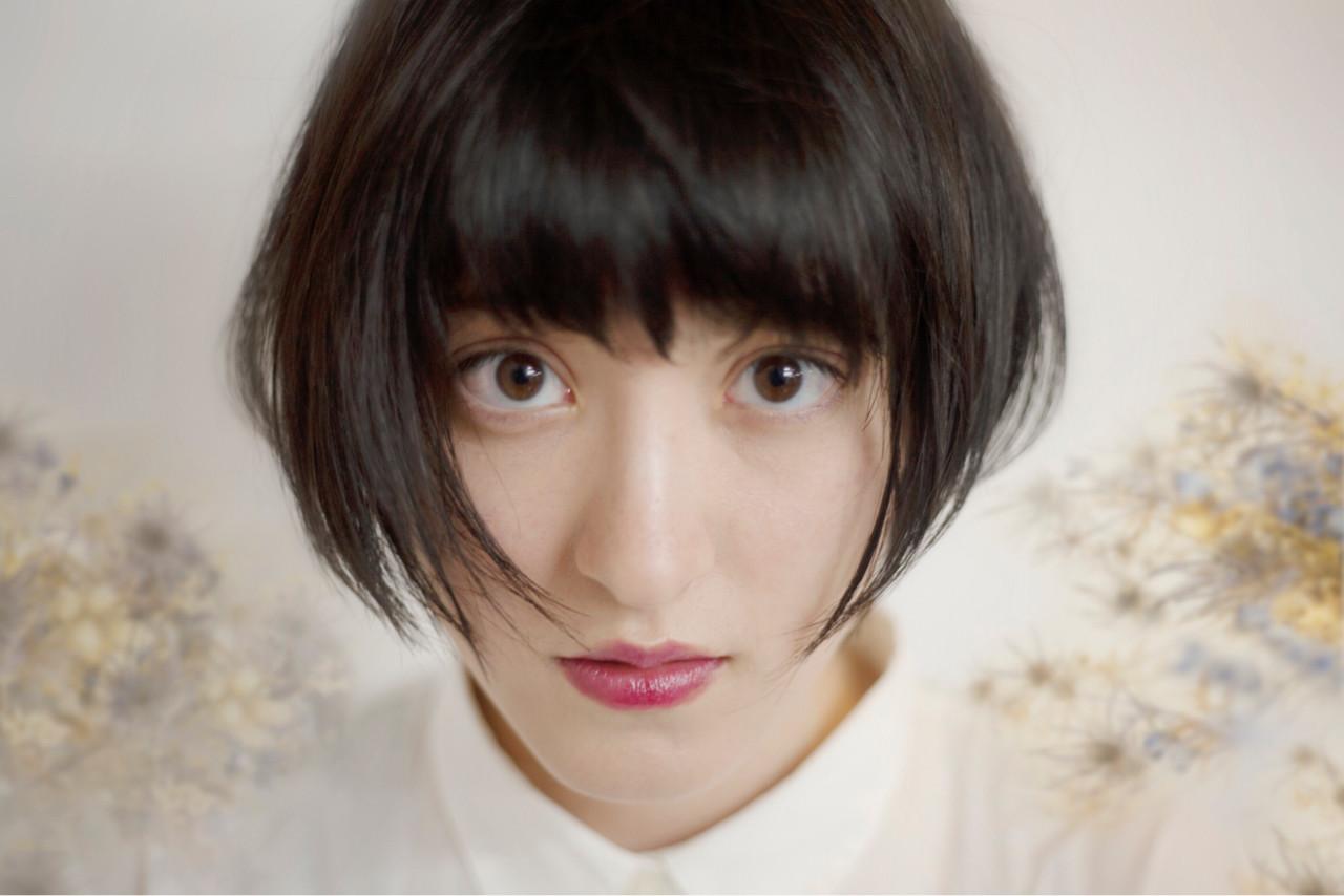 ボブ 黒髪 デート モード ヘアスタイルや髪型の写真・画像 | 桑田 大介 / MAGNOLiA Harajuku