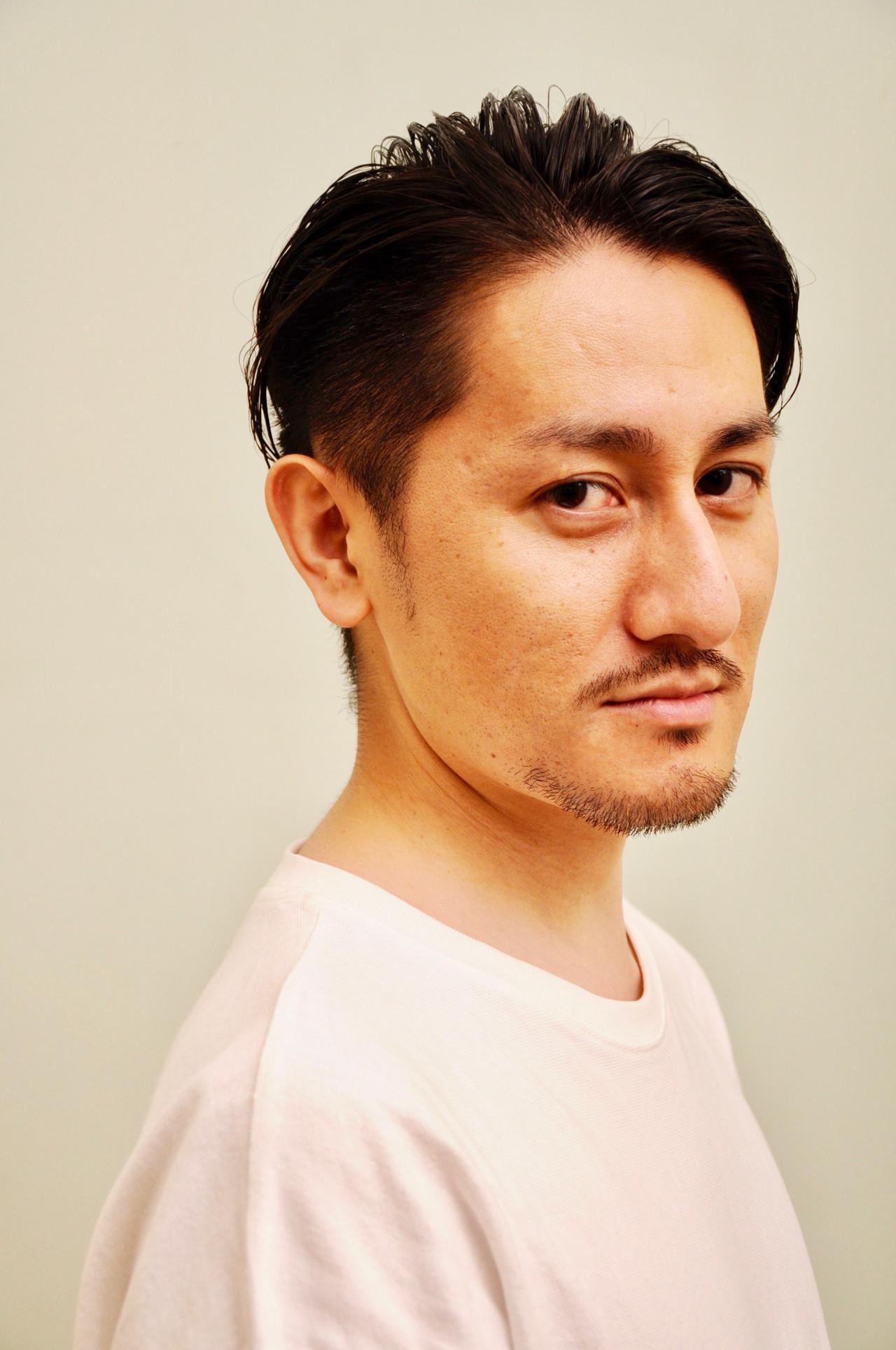 40代 メンズ 黒髪 ツーブロック|BEAUTRIUM 265 勝永 智基