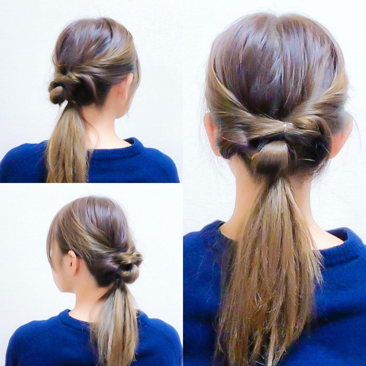 くるりんぱ ヘアアレンジ 簡単ヘアアレンジ ロング ヘアスタイルや髪型の写真・画像