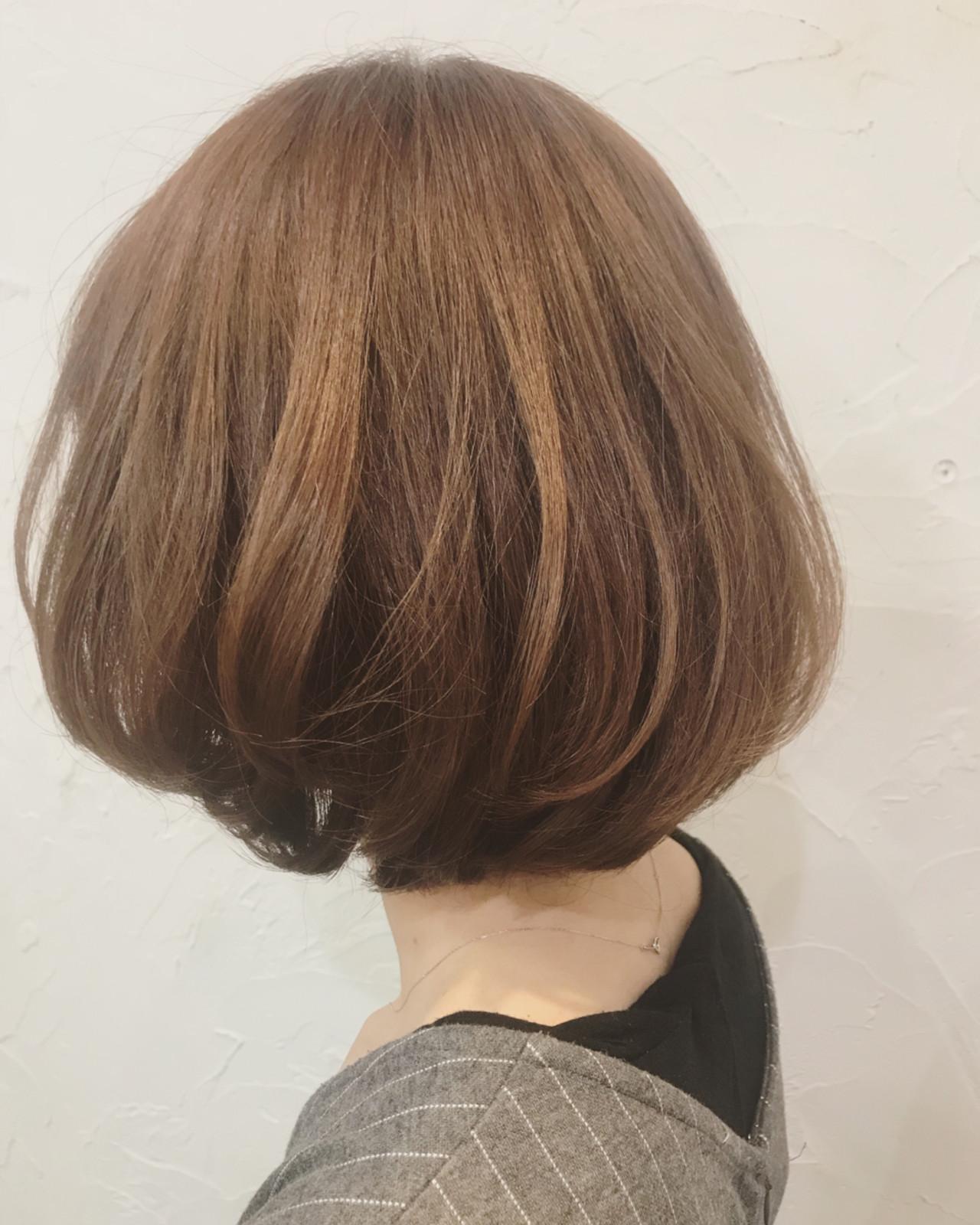 ナチュラル マッシュ フェミニン ショートボブ ヘアスタイルや髪型の写真・画像 | 辻本和哉 / Lego hair 鳳店