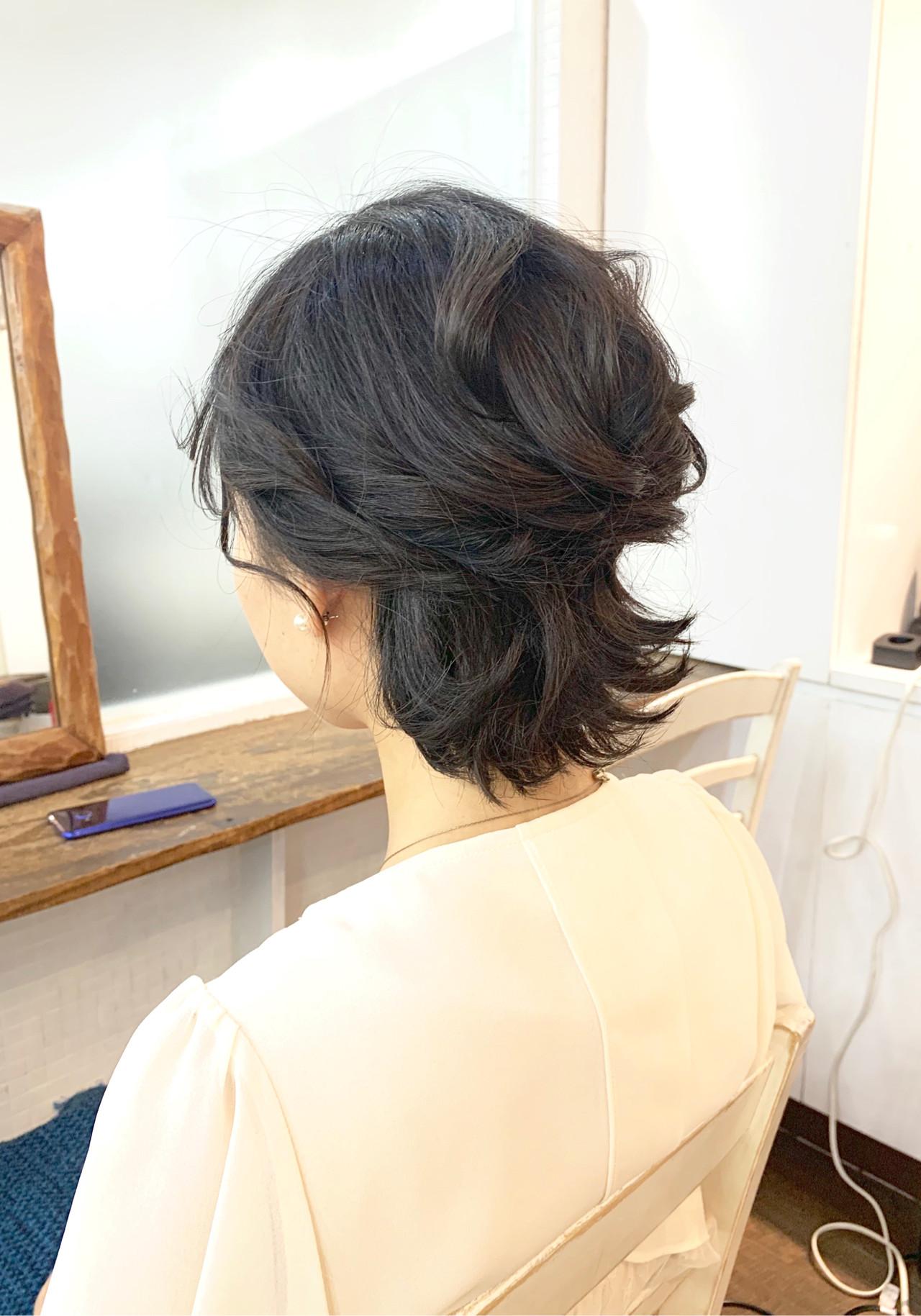 ハーフアップ ナチュラル ラフ 結婚式 ヘアスタイルや髪型の写真・画像