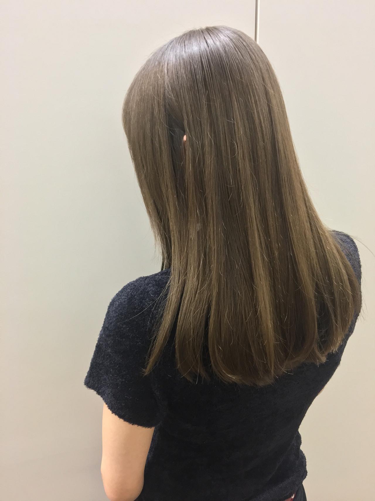 圧倒的透明感 髪質改善トリートメント 髪質改善カラー ロング ヘアスタイルや髪型の写真・画像