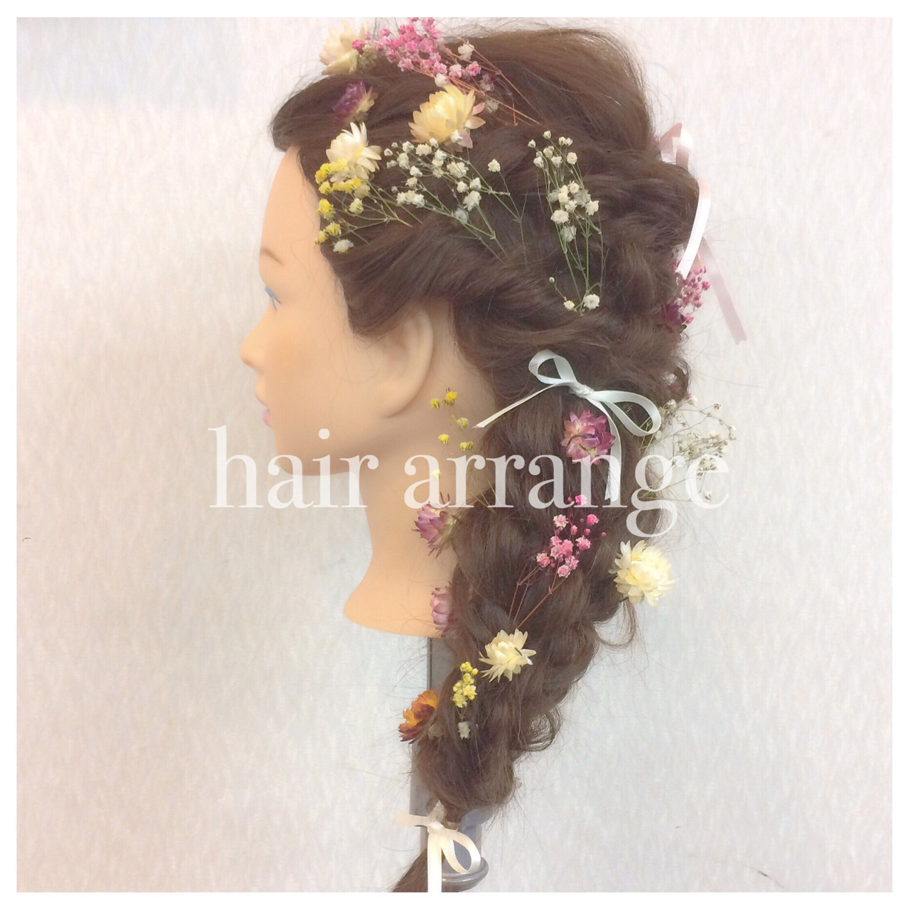 フェミニン 三つ編み 簡単ヘアアレンジ 結婚式 ヘアスタイルや髪型の写真・画像