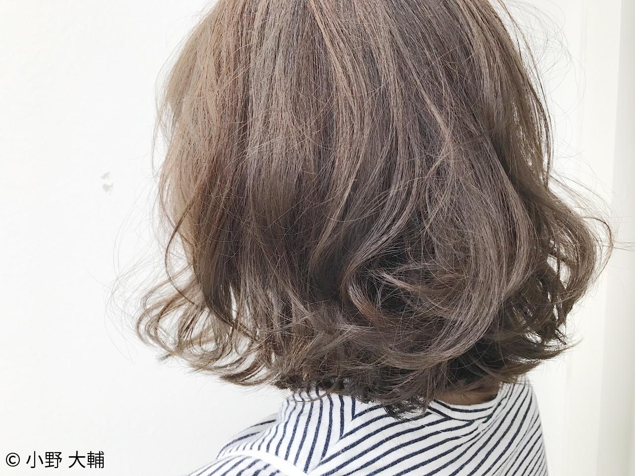 ナチュラル ボブ 秋 アッシュグレージュ ヘアスタイルや髪型の写真・画像