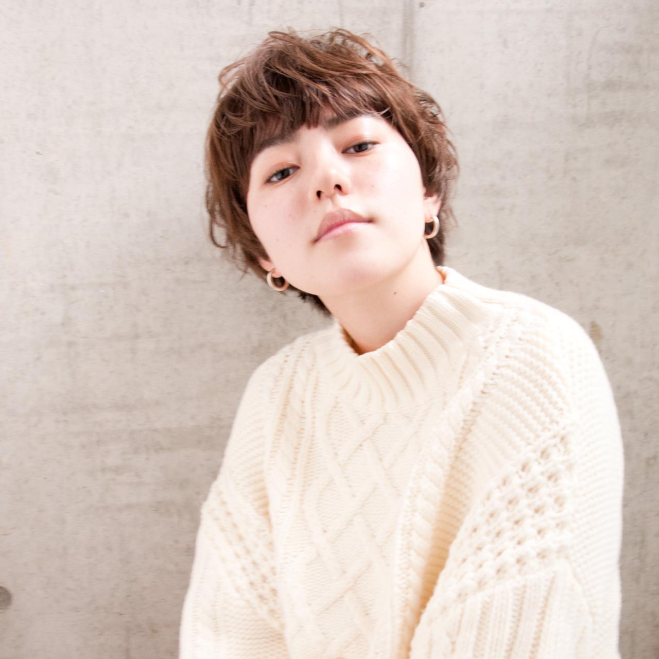 小顔 ショート 外国人風 ショートボブ ヘアスタイルや髪型の写真・画像 | 中尾 寿揮 / Anna Lanna