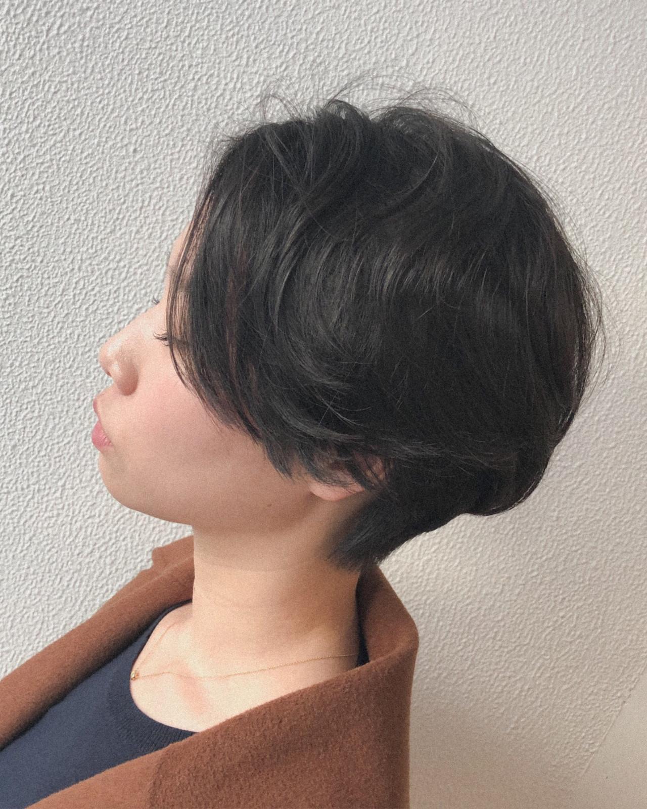 ニュアンス アンニュイ くせ毛風 ショート ヘアスタイルや髪型の写真・画像 | 白石侑 / TWiGGY歩行町店