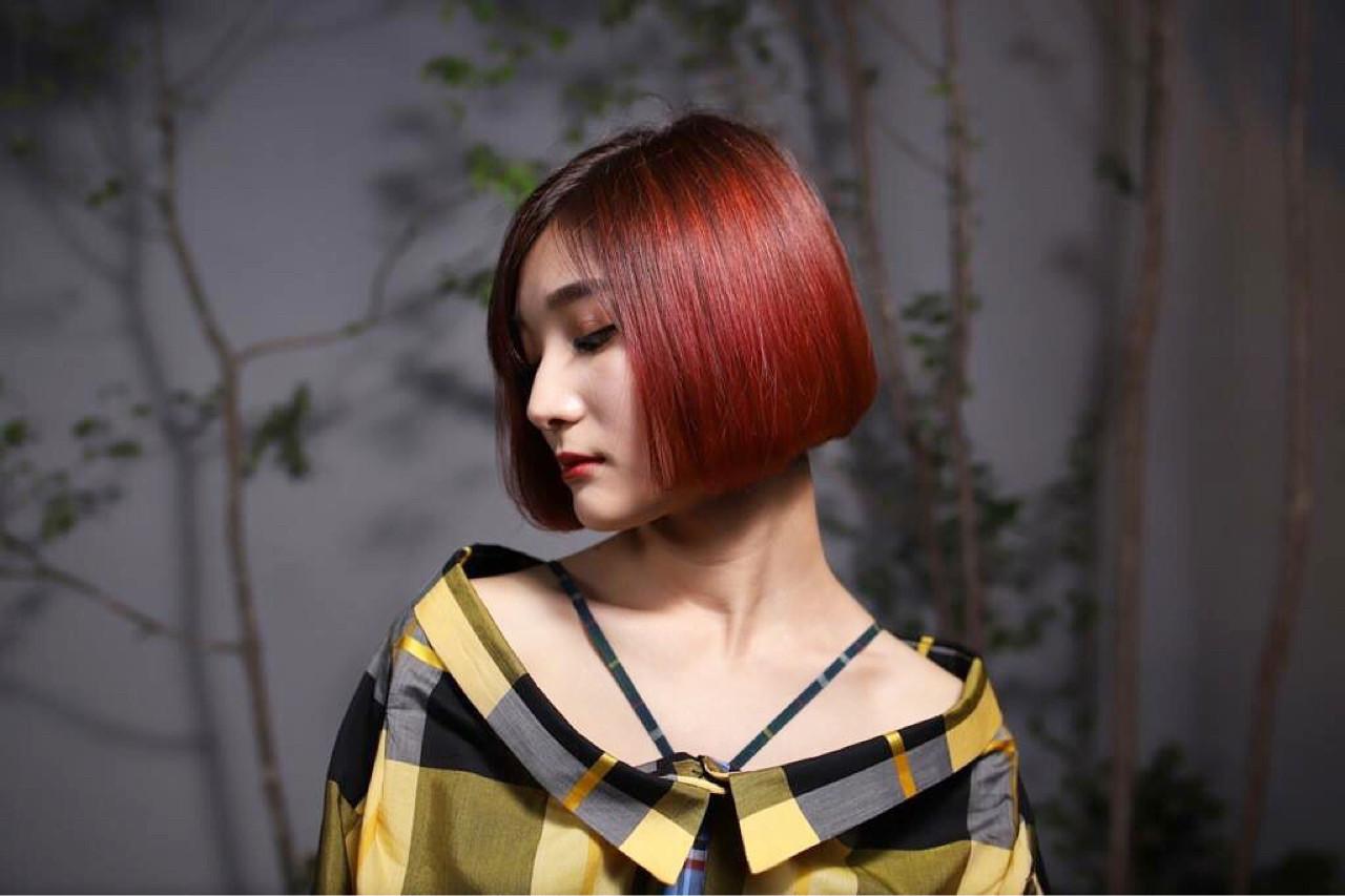 モード ピンク 色気 女子力 ヘアスタイルや髪型の写真・画像