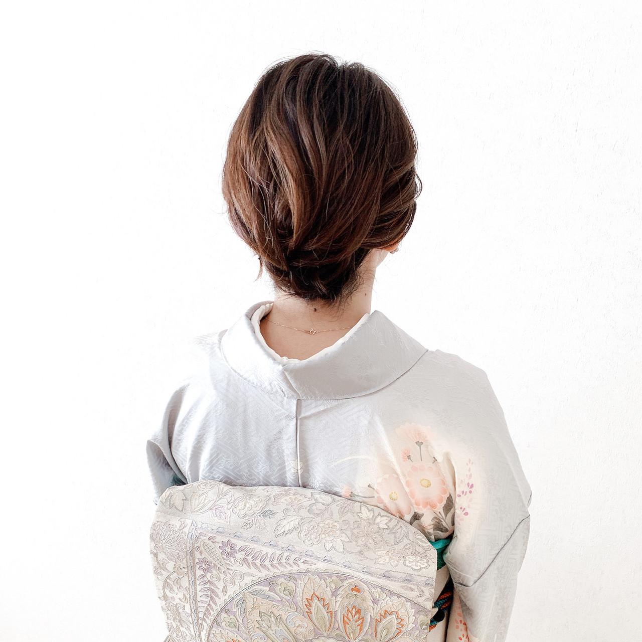 着物 エレガント 訪問着 結婚式ヘアアレンジ ヘアスタイルや髪型の写真・画像 | Moriyama Mami / 福岡天神ヘアセット・着付け専門店【Three-keys】