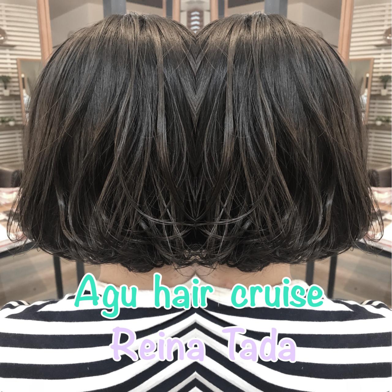 ナチュラル バレイヤージュ アッシュ 透明感 ヘアスタイルや髪型の写真・画像