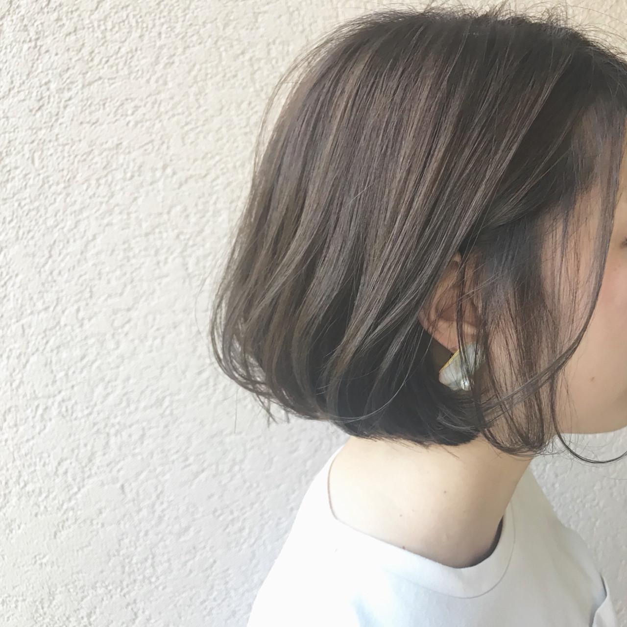 ボブ ナチュラル グレージュ 外国人風 ヘアスタイルや髪型の写真・画像 | 富永暁子 / SUMMER
