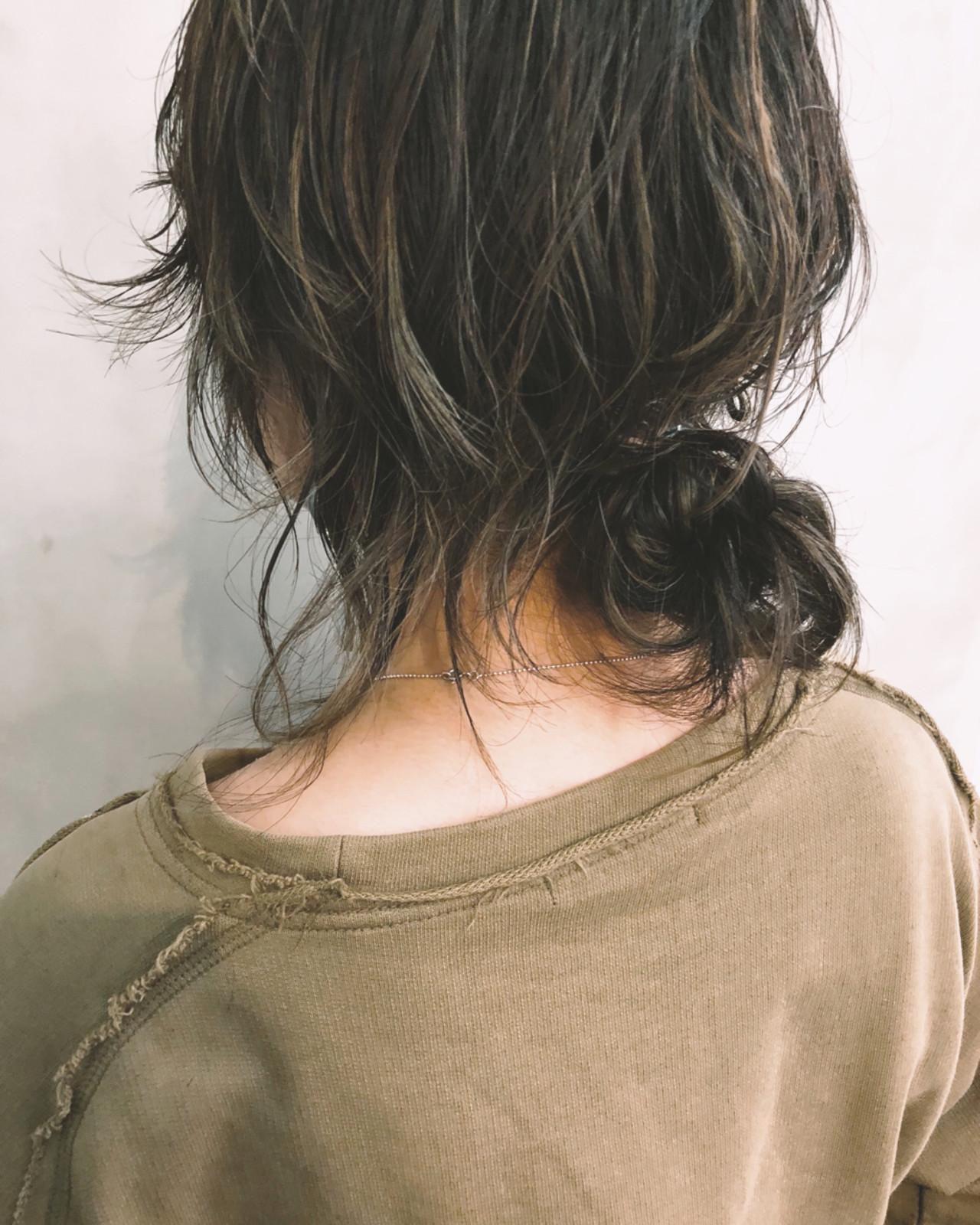 ミディアム 大人女子 抜け感 モード ヘアスタイルや髪型の写真・画像