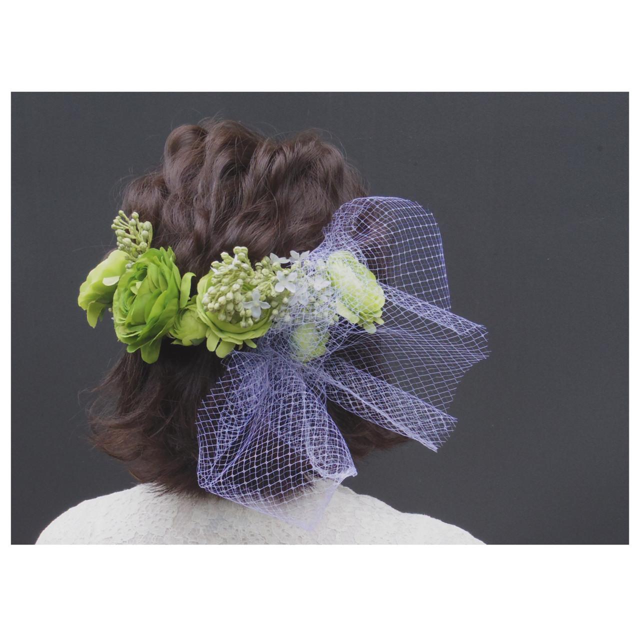 切りっぱなし ヘアアレンジ 結婚式 ボブ ヘアスタイルや髪型の写真・画像   秋山みき / HYSTERIA