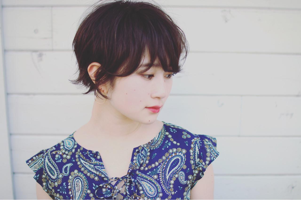 大人かわいい 夏 ショート ヘアアレンジ ヘアスタイルや髪型の写真・画像