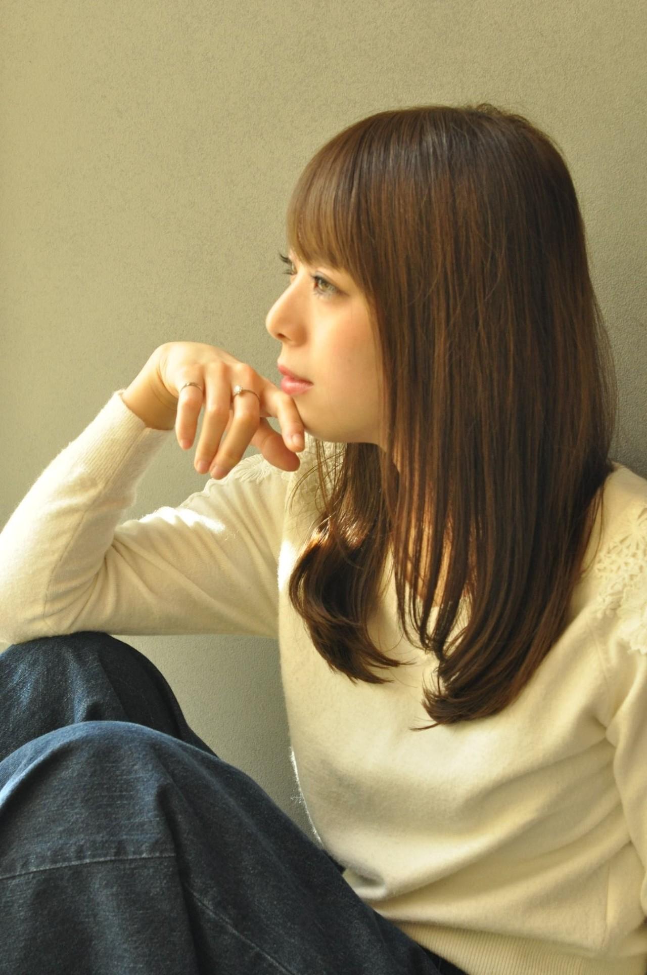 オフィス 抜け感 ヘアアレンジ ロング ヘアスタイルや髪型の写真・画像   菊地 博之 / ジュノ