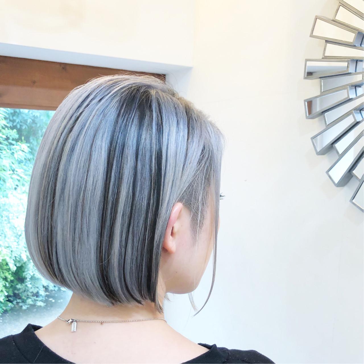ハイライト ナチュラル ユニコーンカラー バレイヤージュ ヘアスタイルや髪型の写真・画像