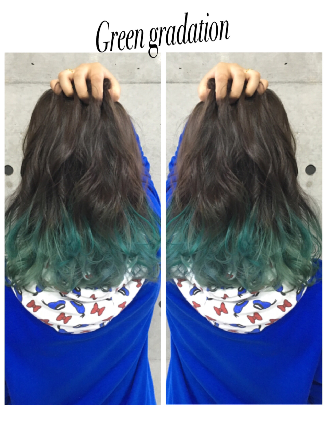 ミディアム ガーリー グラデーションカラー フェミニン ヘアスタイルや髪型の写真・画像
