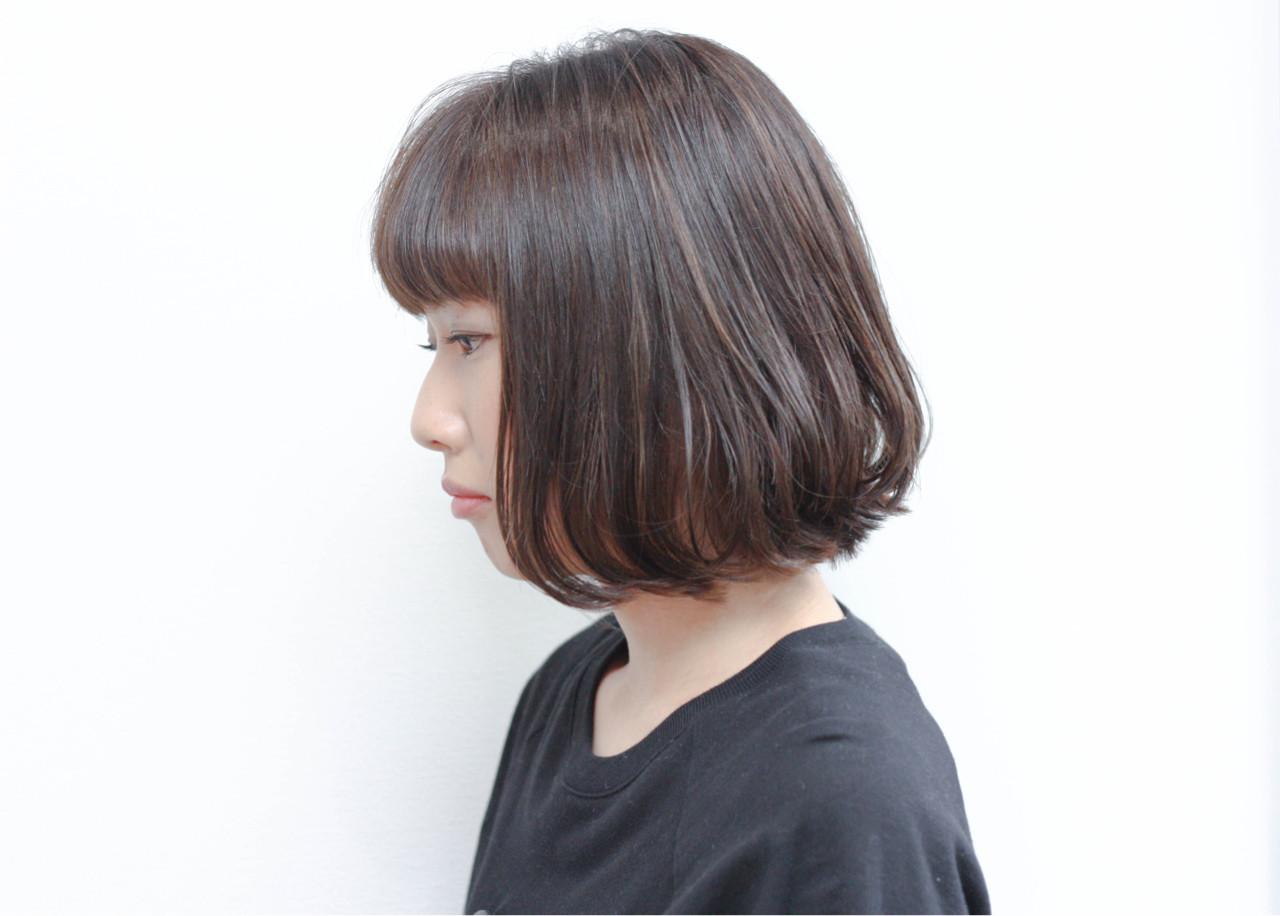 色気 暗髪 外国人風 ボブ ヘアスタイルや髪型の写真・画像 | Hiroshi Kuroe 尼崎 / K'LipbyTAL'KE