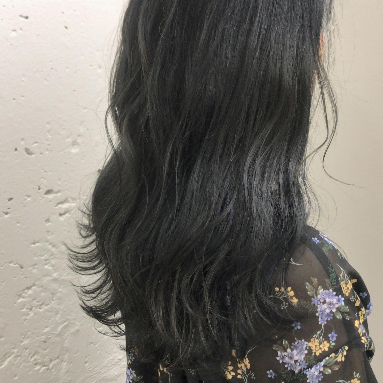 ネイビー ネイビーカラー アッシュ アッシュグレー ヘアスタイルや髪型の写真・画像   蒔山知洋 / blue faces 表参道 (ブルーフェーセス)