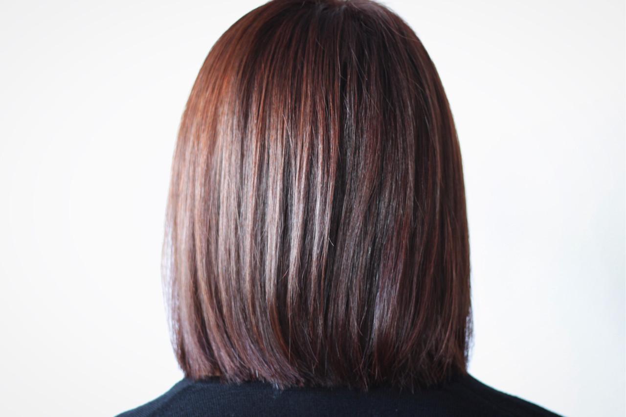 ナチュラル 切りっぱなし ミディアム ボブ ヘアスタイルや髪型の写真・画像 | creap / creap