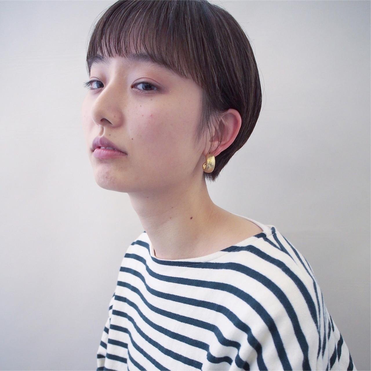 ウェットヘア モード ハンサムショート 黒髪 ヘアスタイルや髪型の写真・画像 | anhue. オザキミノリ / An hue.