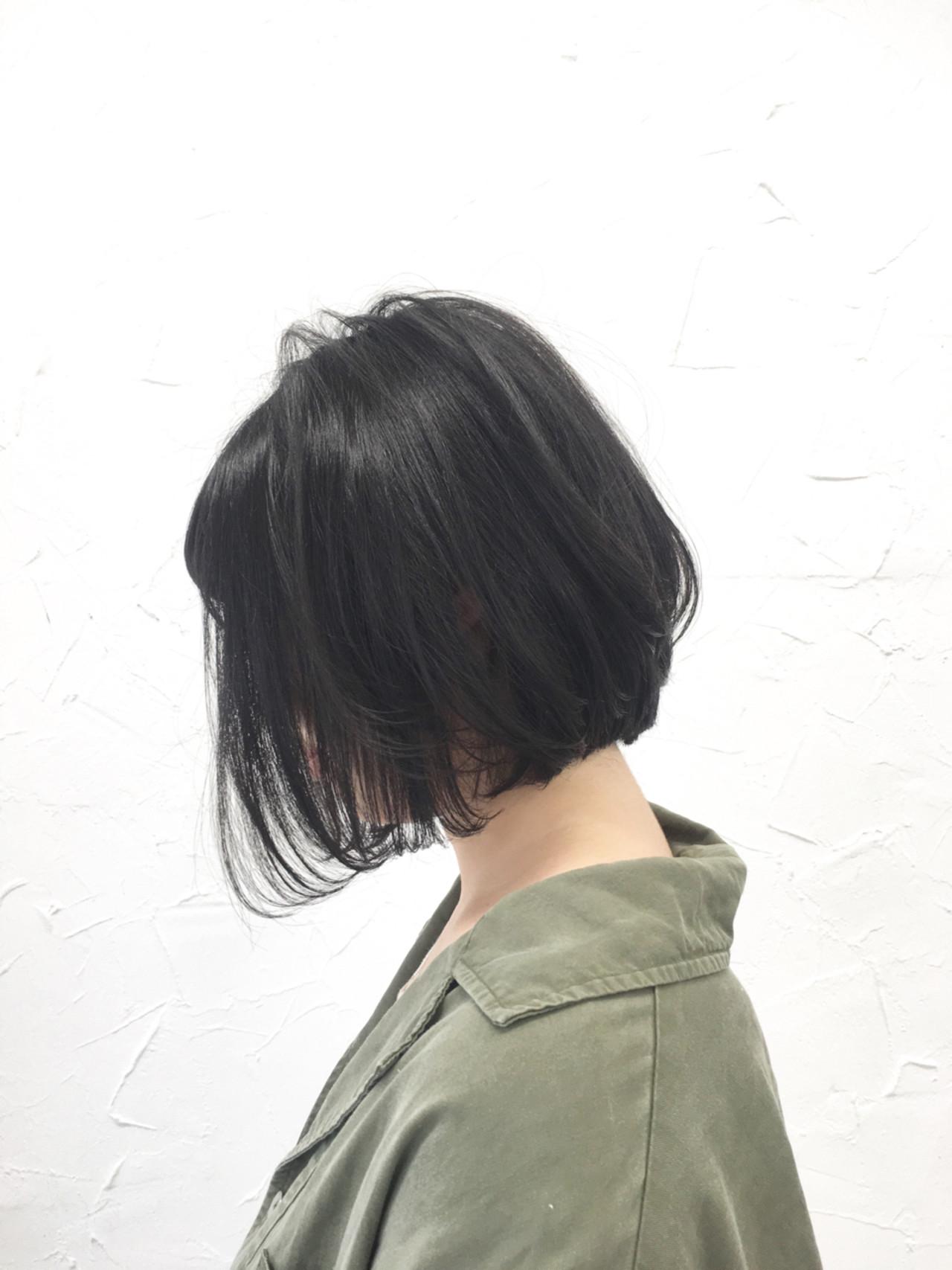 ボブ ヘアアレンジ ハイライト 原宿系 ヘアスタイルや髪型の写真・画像