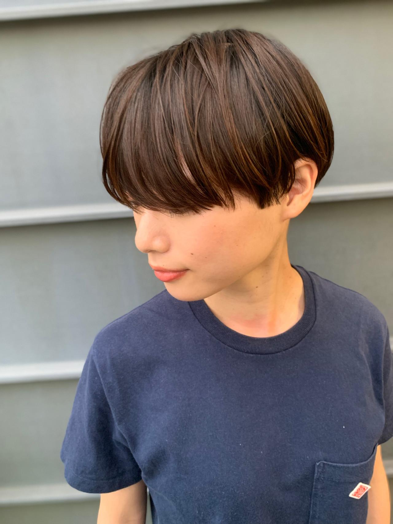 ショート モード ベリーショート ショートヘア ヘアスタイルや髪型の写真・画像 | 黒河 祐樹 / ドアベル ヘアリビング