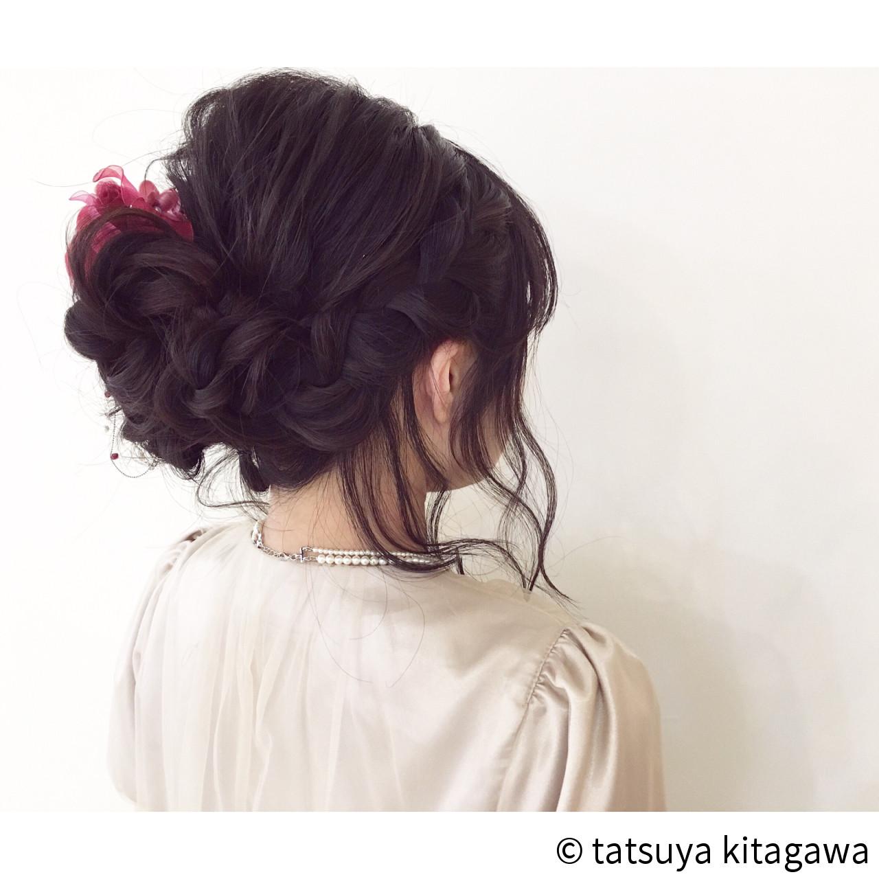 フェミニン アップスタイル 結婚式 ゆるふわ ヘアスタイルや髪型の写真・画像