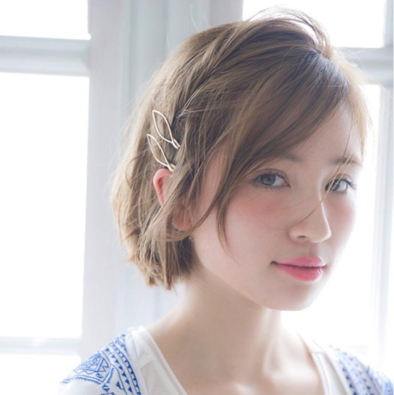 ショート 外国人風 ガーリー 金髪 ヘアスタイルや髪型の写真・画像