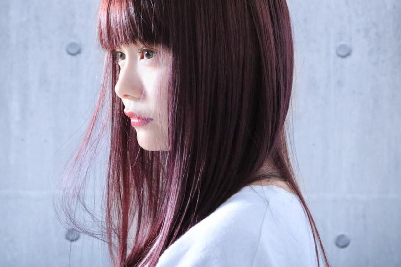 ナチュラル ロング ピンクベージュ ピンクアッシュ ヘアスタイルや髪型の写真・画像