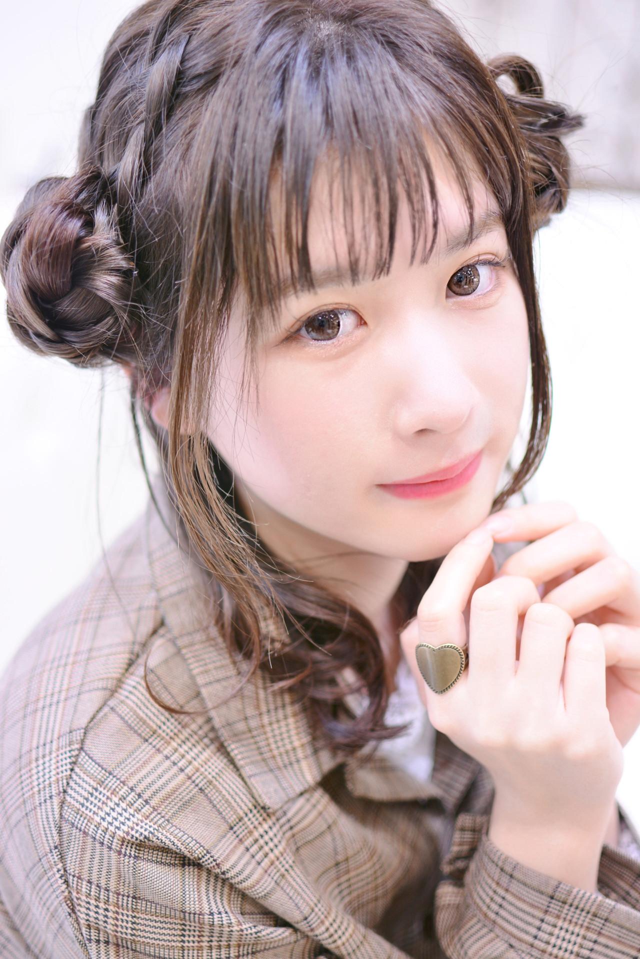 シースルーバング 前髪あり デート 簡単ヘアアレンジ ヘアスタイルや髪型の写真・画像 | Shiko Kajihara / メイズ