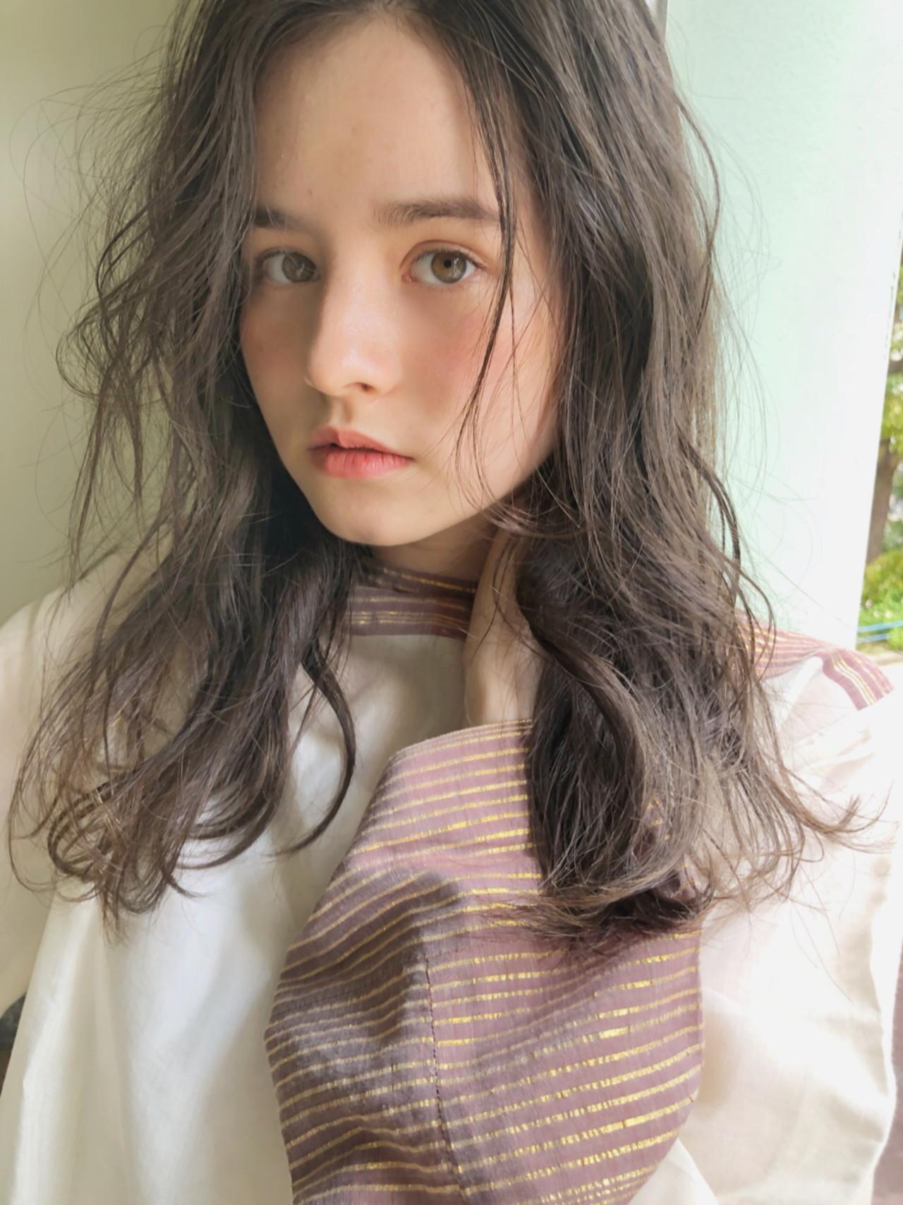 ヘアアレンジ ナチュラル セミロング 大人かわいい ヘアスタイルや髪型の写真・画像 | 中島 潮里 / whyte / whyte