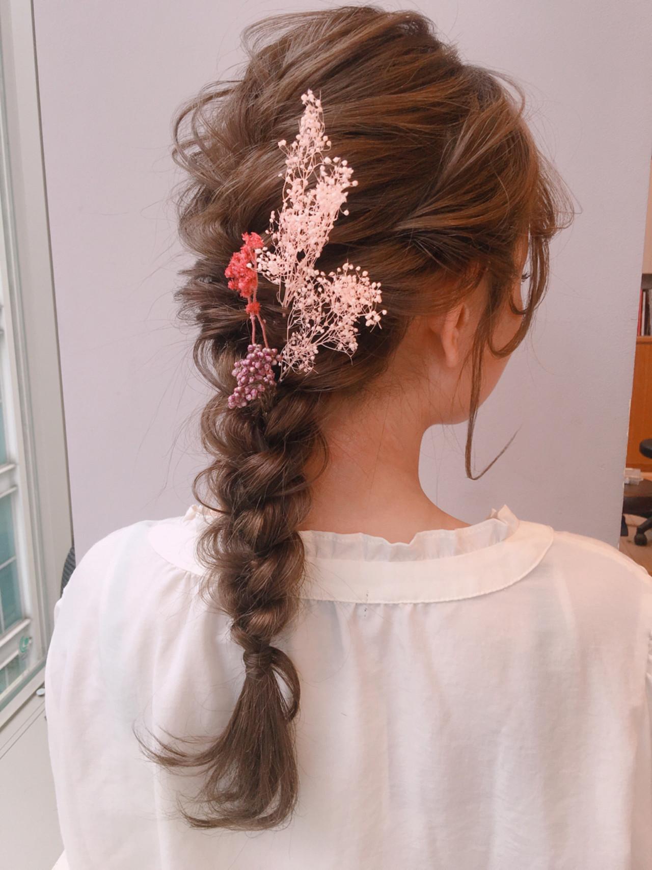 フェミニン デート 結婚式 ロング ヘアスタイルや髪型の写真・画像