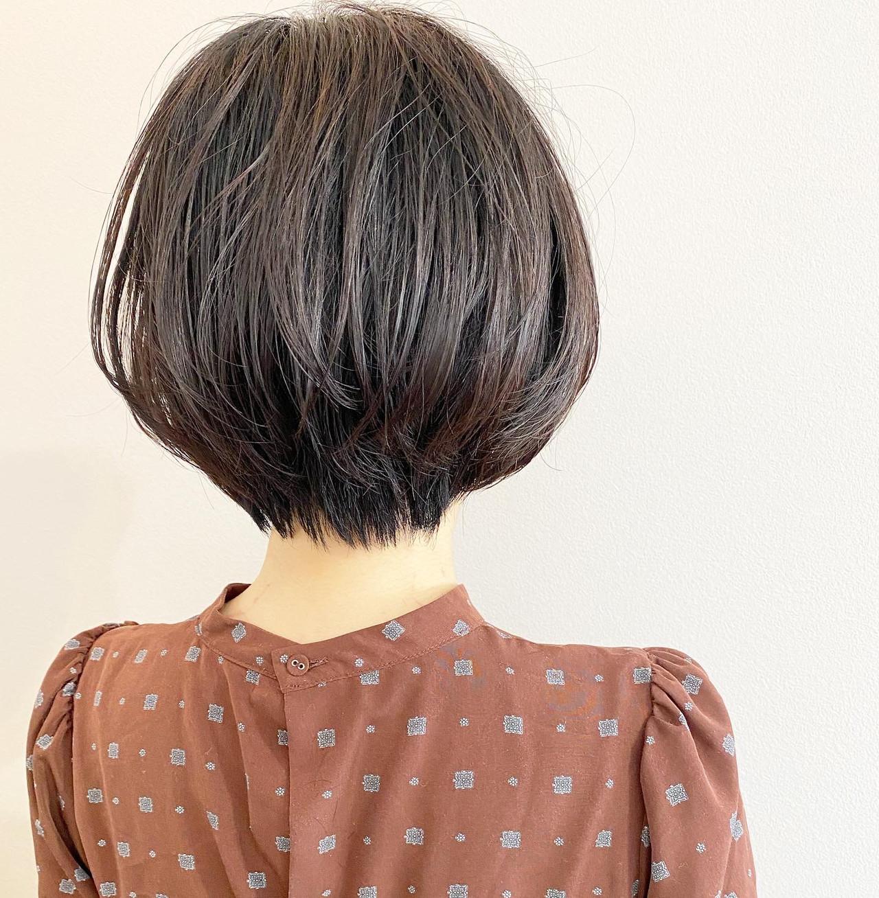 デート ショートボブ ショート ショートヘア ヘアスタイルや髪型の写真・画像   大人可愛い【ショート・ボブが得意】つばさ / VIE