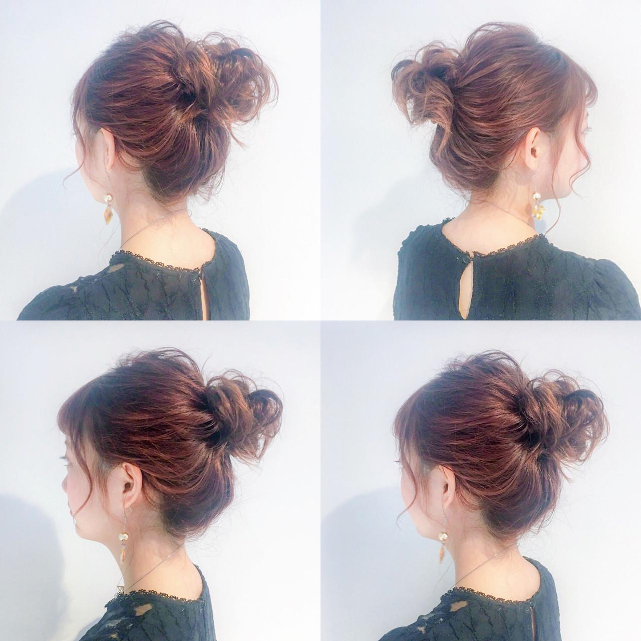 4/10 やっぱりお団子が可愛い♡ ゆるい感じのヘアアレンジの中で1番好きかも(*^▽^*) ・ 後れ毛がなくてもありですね(^O^) #Amoute#アムティ#恵比寿#ヘアアレンジ#アレンジ#写真#photo