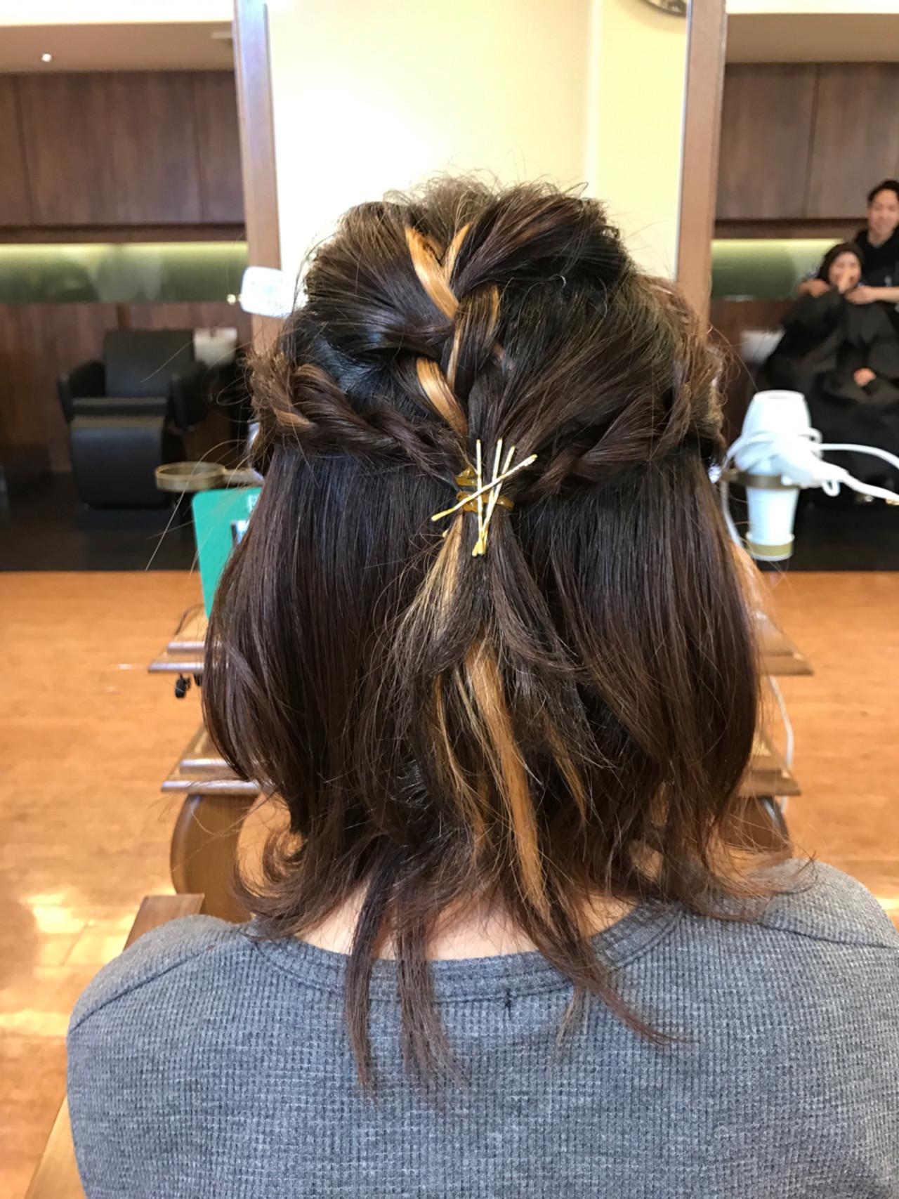 ハイライト フェミニン 外国人風 ヘアアレンジ ヘアスタイルや髪型の写真・画像