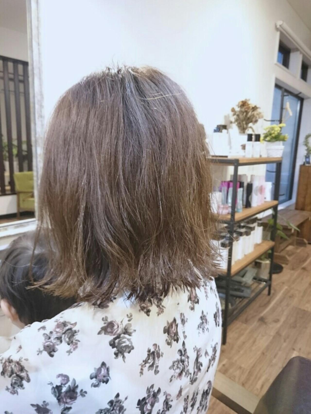 ナチュラル ゆるふわ ボブ 外国人風 ヘアスタイルや髪型の写真・画像 | 村上 悠 / lobby hair design