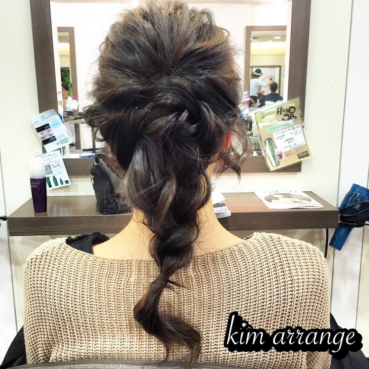 ショート 編み込み 成人式 まとめ髪 ヘアスタイルや髪型の写真・画像