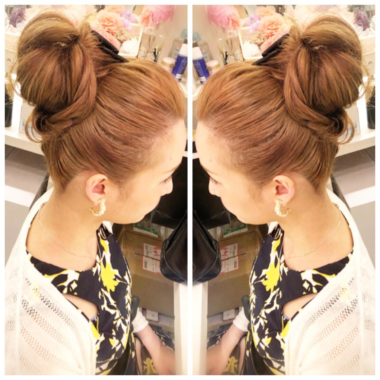簡単ヘアアレンジ ヘアアレンジ ナチュラル ロング ヘアスタイルや髪型の写真・画像 | Amico/佐藤 友理 / amico